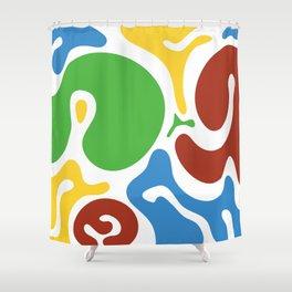 Spot colors Shower Curtain