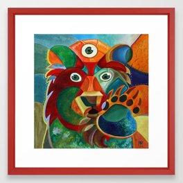 Three Eyed Bear Framed Art Print
