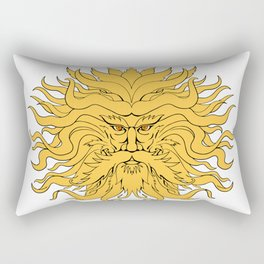 Helios Greek God of Sun Head Drawing Color Rectangular Pillow