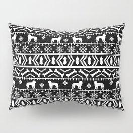 Golden Doodle fair isle christmas pet pattern minimal christmas sweater gifts Pillow Sham