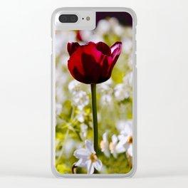 Black Tulip in Art Clear iPhone Case