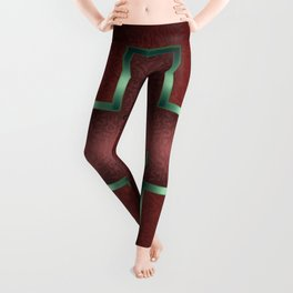 """Courage"" Chinese Calligraphy on Celtic Cross Leggings"