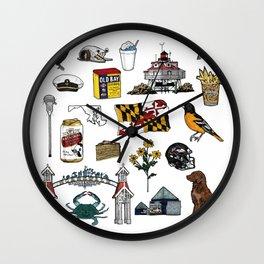Maryland Flash Sheet - Color Wall Clock