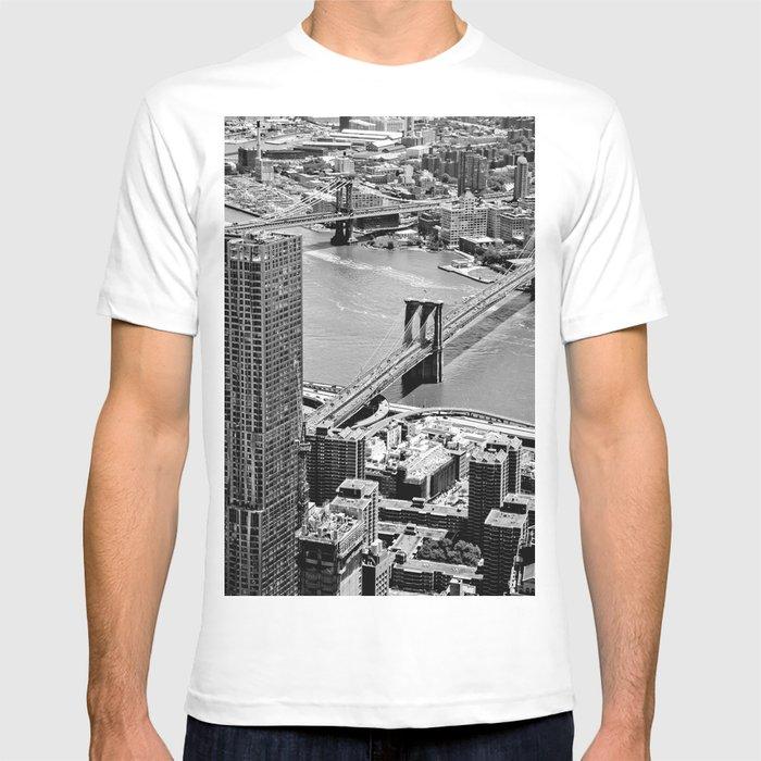 e6fcce33 Brooklyn Bridge View - New York City T-shirt by newyorkcityart ...