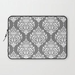 Grey Damask Laptop Sleeve