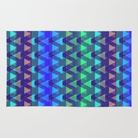 arya Area & Throw Rugs featuring Triangles Folded by Hinal Arya