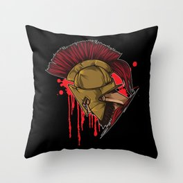 Spartan Warrior | Sparta Head Fighter Spartiate Throw Pillow