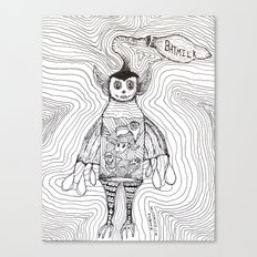 Batmilk Canvas Print
