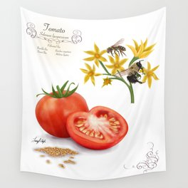 Tomato and Pollinators Wall Tapestry