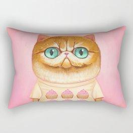 Cupcake Cat Rectangular Pillow