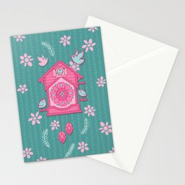 Cuckoo Time pink Stationery Cards