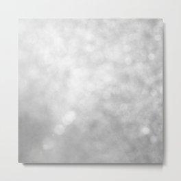 Beautiful White Glitter Sparkles Metal Print