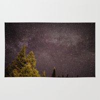 milky way Area & Throw Rugs featuring Milky way by Simon Laroche