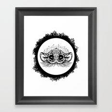 Half Cute Wild Cat Framed Art Print