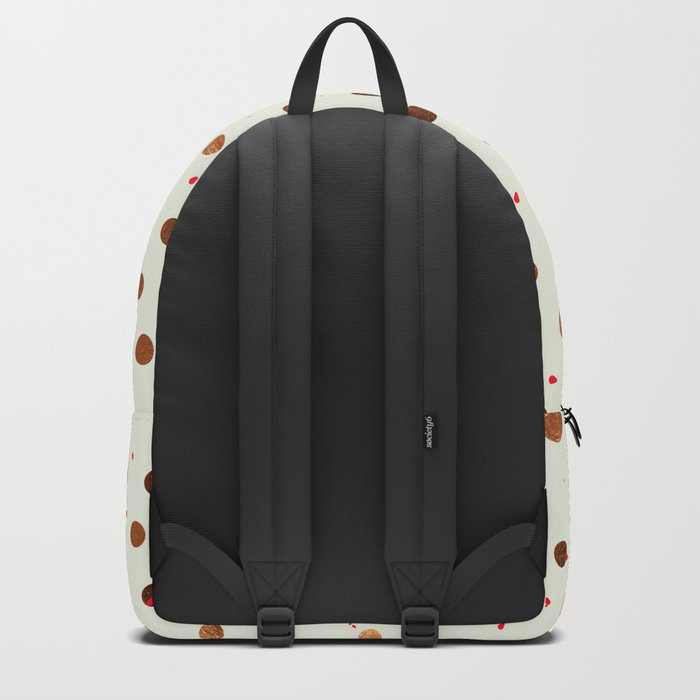 Copper Polka Dots With Red Hint Pattern Backpack