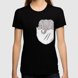 "Nice Elephant Animal Art Paleo Cave Tattoo Design ""Pocket"" T-shirt Zoo Big Wild Animals Forest T-shirt"