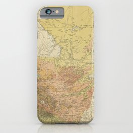 Vintage Map of Guatemala (1902) iPhone Case