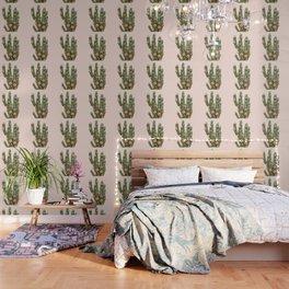 CACTUS AND ROSES Wallpaper
