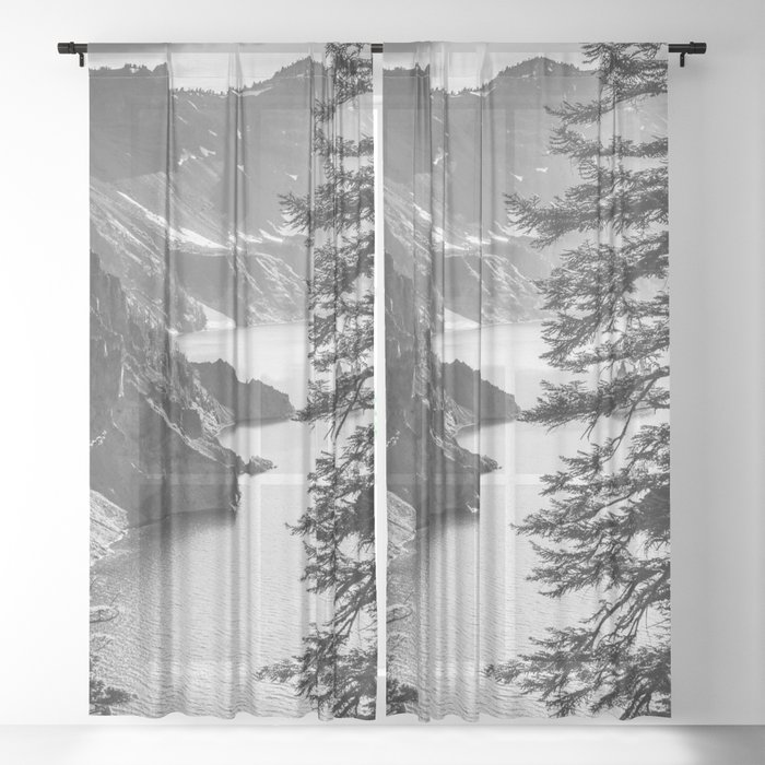 Forest Lake Retreat - Crater Lake Sheer Curtain