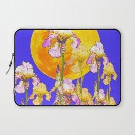IRIS GARDEN & RISING GOLD MOON  DESIGN ART Laptop Sleeve