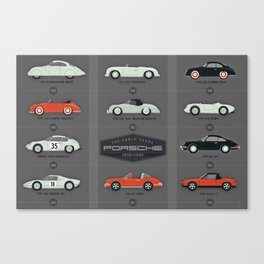 History of the Porsche Sportscar The Early Years Canvas Print