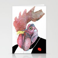 cock Stationery Cards featuring James Cock by nicoserrano