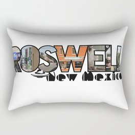 Roswell New Mexico Big Letter Travel Souvenir Rectangular Pillow