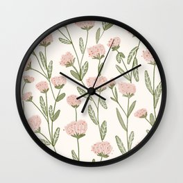 Rose Garden Pattern Wall Clock