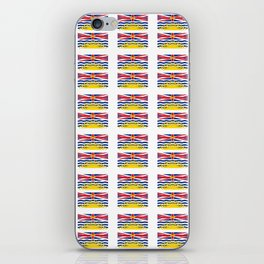 flag of british columbia -prairie,canadian, canada,vancouver,victoria,columbian. iPhone Skin