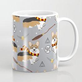 corgi wizard welsh corgis potter wizarding school pattern Coffee Mug