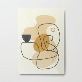 Abstract Line21 Metal Print