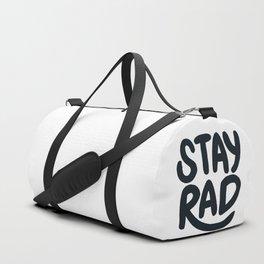 Stay Rad B&W Duffle Bag