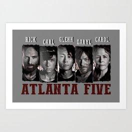 Atlanta Five - The Walking Dead Art Print
