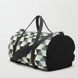 Geometric Pattern 174 (Cream Black Triangles) Duffle Bag