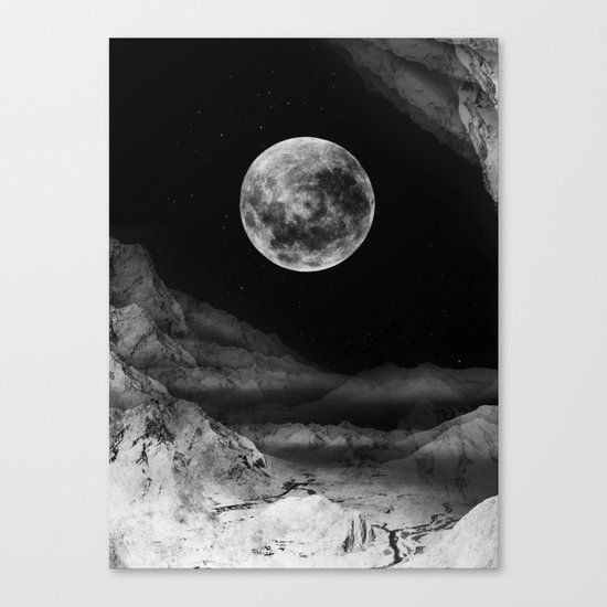Between two moons Canvas Print