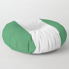 Nigeria flag emblem Floor Pillow