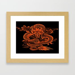 Epic Dragon Orange Framed Art Print