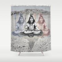 shiva Shower Curtains featuring Shiva by Jonnea Herman