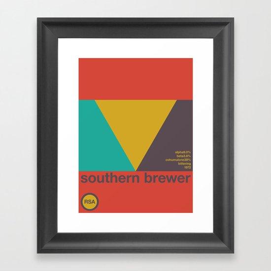 southern brewer single hop Framed Art Print