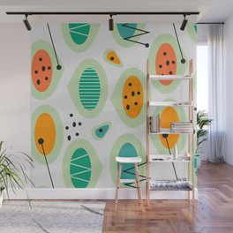 Mid-century abstraction Wall Mural