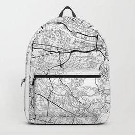 Glasgow Map White Backpack