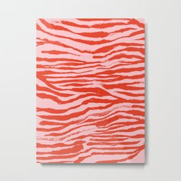 Electric Zebra Stripes (viii 2021) Metal Print