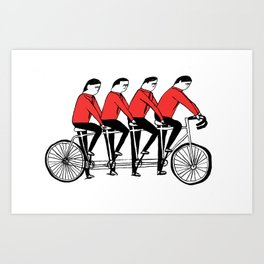 Kraftcycle Art Print