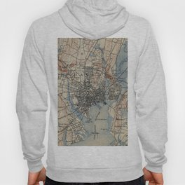 Vintage Map of New Haven Connecticut (1890) Hoody