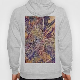 Belfast Northern Ireland City Map Hoody