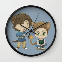 here kitty kitty Wall Clock