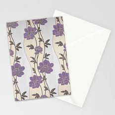 Purple Flower Garland Stationery Cards