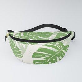 Linocut Leaf Fanny Pack