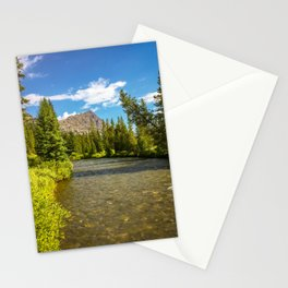 Yellowstone National Park River Hike Landscape Print Stationery Cards