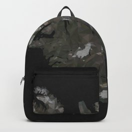 Iceland Map Low Poly Style Wanderlust Backpack